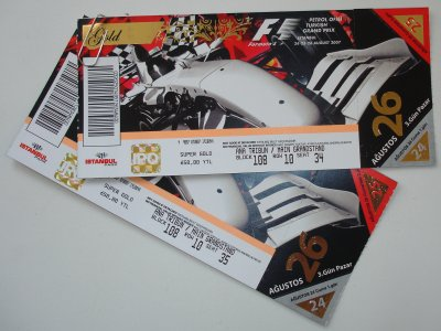 F1 Turkey Tickets