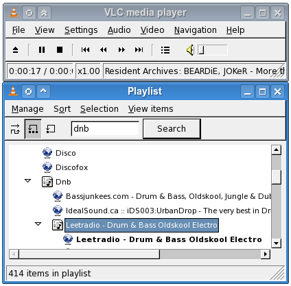 VLC Playlist / Shoutcast